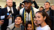 Usain Bolt: Fans gather for sprinting legend in Australia