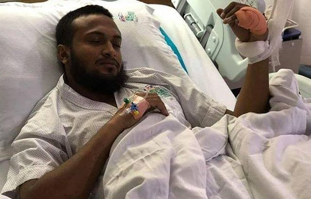 Infected hand delays Shakib's recovery, ruled out for three months