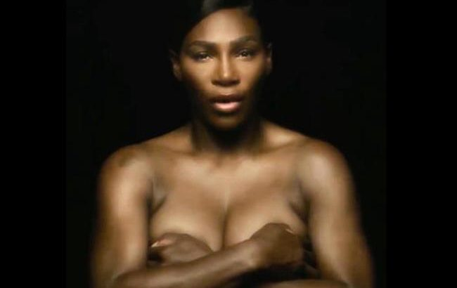 Serena sings I Touch Myself topless to raise breast cancer awareness