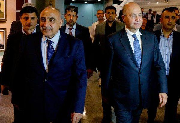 Iraq names new president and premier, ending deadlock