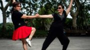 China's 'dancing aunties' kick up their heels
