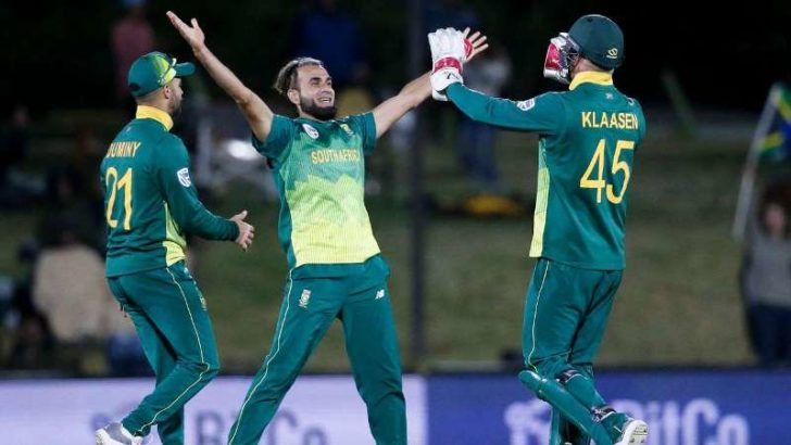Imran Tahir's five-for sinks Zimbabwe