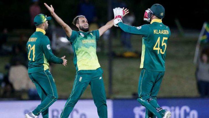 Imran Tahir's five-for sinks Zimbabwe