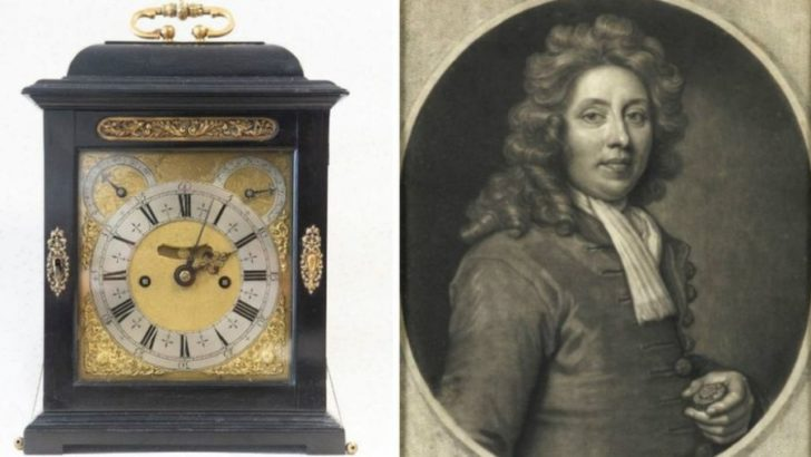 A 300-year-old clock found on Derbyshire estate sells for £230k