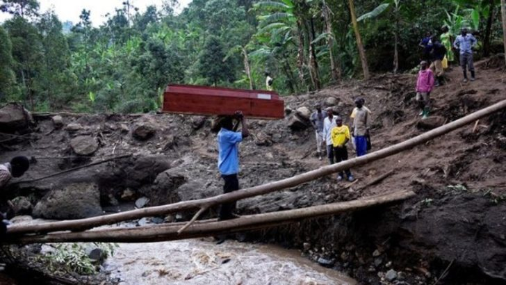 Uganda says landslide death toll rises to 43, begins relocations